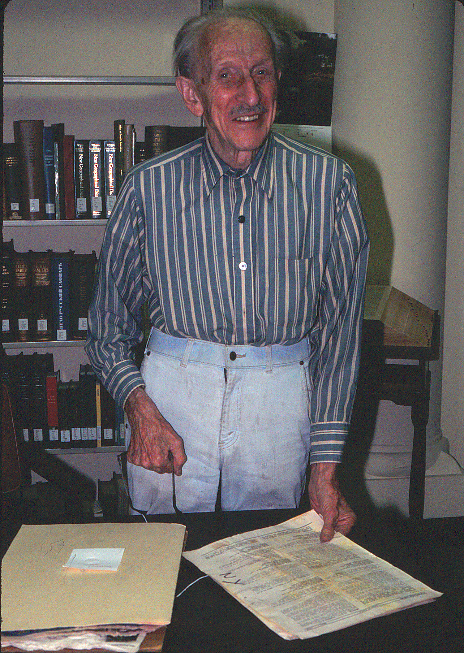 Rupert Barneby in 1998. Photo by S. A. Mori.
