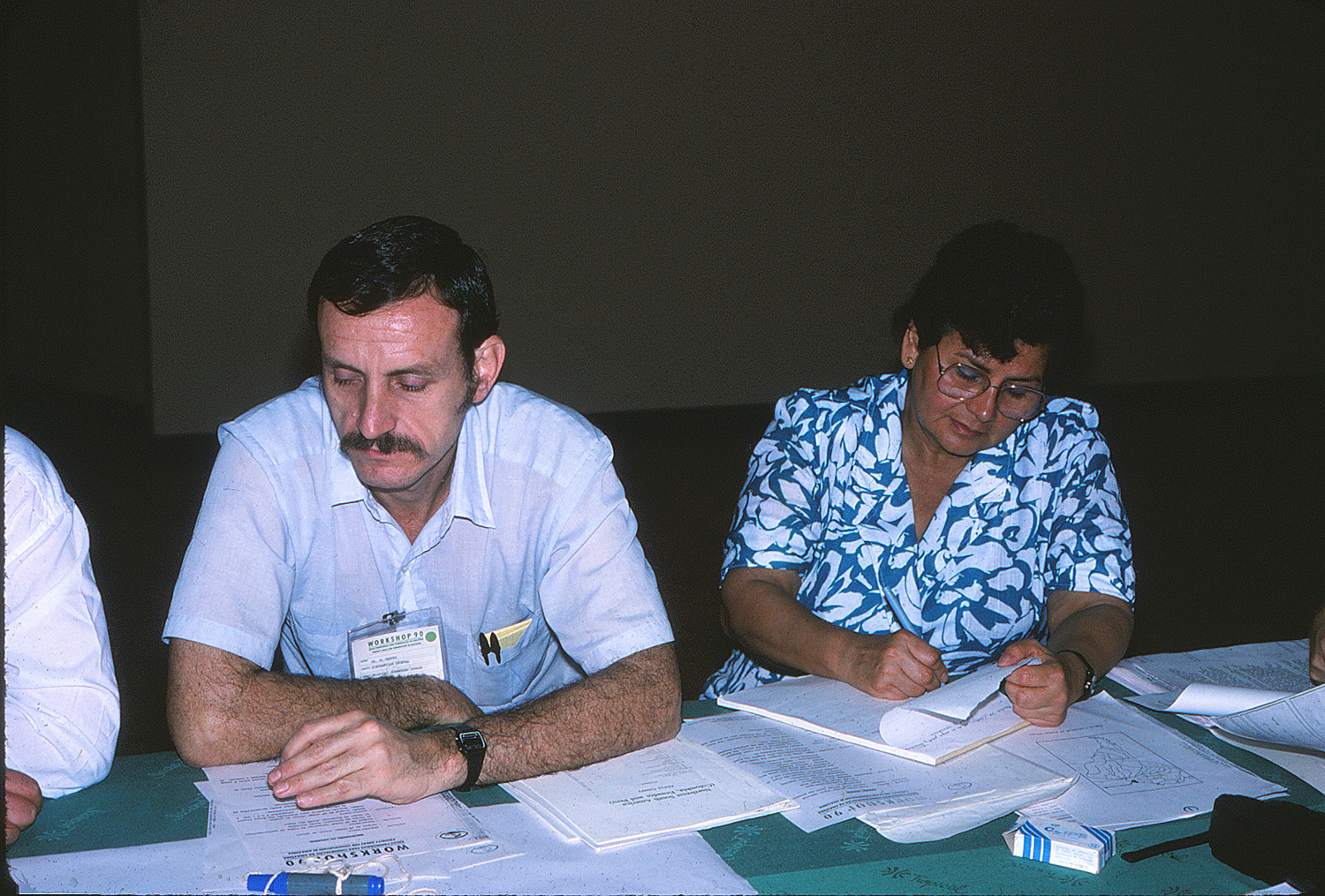 Al Gentry and Olga Macbryde in 1990. Photo by S. A. Mori.