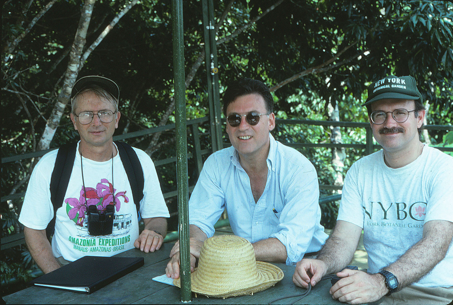 Scott Mori, Gregory long, and Brian Boom in 1993. Photographer not known.