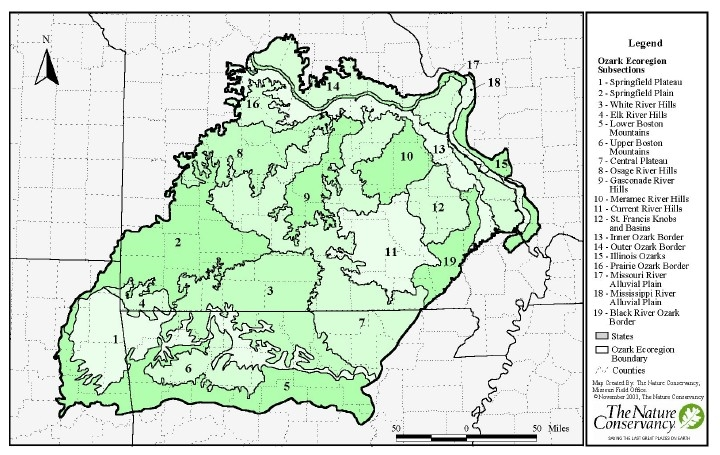 Ozark Mountains Topographic Map.About Ozarklichens
